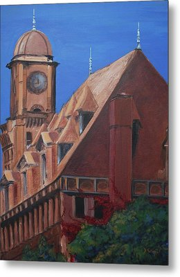 Metal Print featuring the painting Main Street Station by Donna Tuten