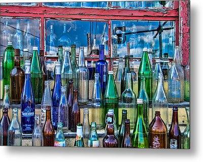 Maine Bottle Collector Metal Print by Steven Bateson