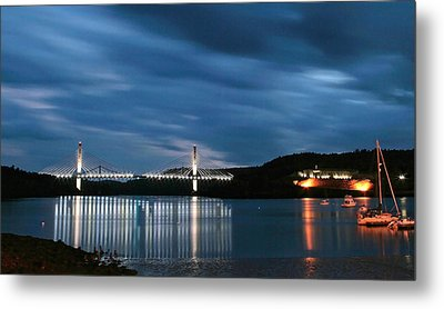 Metal Print featuring the photograph Maine Bridge And Fort Knox  by Barbara West