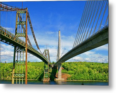 Maine Bridges Metal Print by Barbara West
