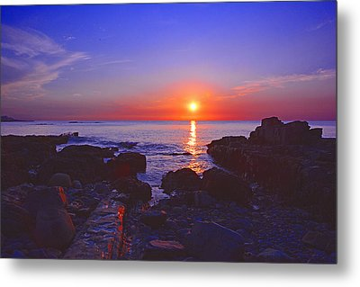 Maine Coast Sunrise Metal Print