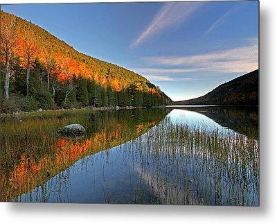 Maine Fall Foliage Glory At Bubble Pond  Metal Print