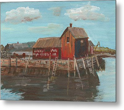 Maine Fishing Shack Metal Print