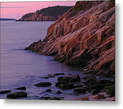 Maine Granite Coast Sunrise Metal Print