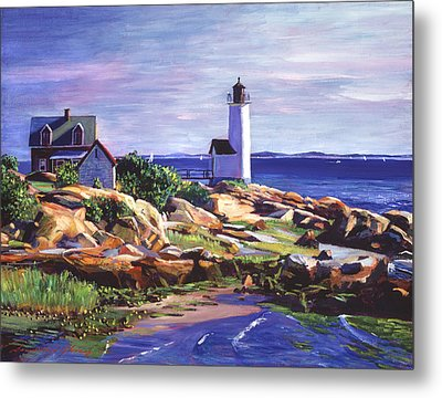 Maine Lighthouse Metal Print by David Lloyd Glover