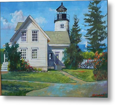 Maine Lighthouse Metal Print by Michael McDougall