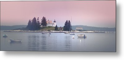 Maine Pumpkin Lighthouse Metal Print by Chad Tracy