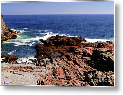 Maine Seascape Metal Print by Kathleen Struckle