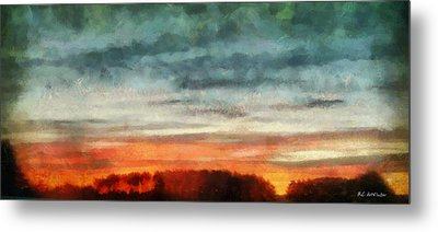 Maine Sunset Metal Print by RC deWinter