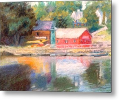 Maine Waterfront Metal Print by Janet McGrath
