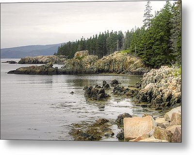 Maine's Beautiful Rocky Shore Metal Print