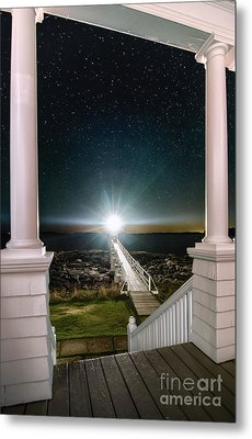 Maines Premier Porch Light Metal Print