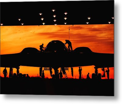 Stealth Silhouette Metal Print by Mountain Dreams