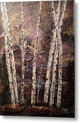 Majestic Birch Metal Print