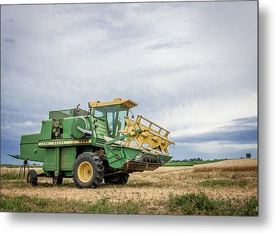 Metal Print featuring the photograph Majestic Combine by Dawn Romine