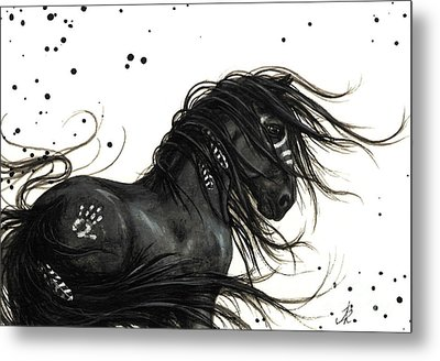Majestic Friesian Horse Metal Print by AmyLyn Bihrle