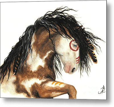 Majestic Horse Mustang 64 Metal Print by AmyLyn Bihrle