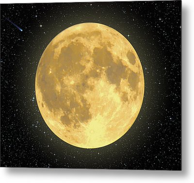 Majestic Moon Metal Print by Dave Lee