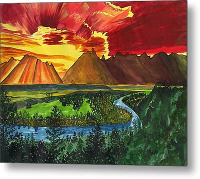 Majestic Mountains Metal Print by Beverly Marshall