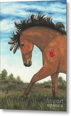 Majestic Mustang 36 Metal Print by AmyLyn Bihrle