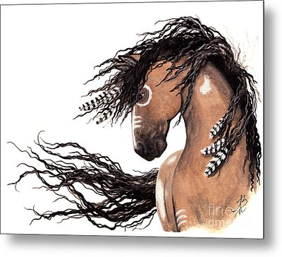 Majestic Paint Horse 43 Metal Print by AmyLyn Bihrle