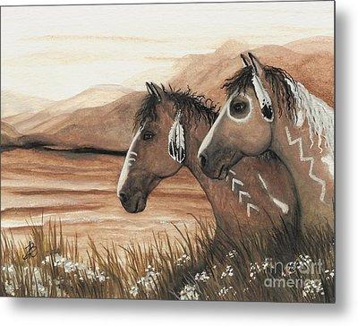 Majestic Mustang Series 42 Metal Print by AmyLyn Bihrle