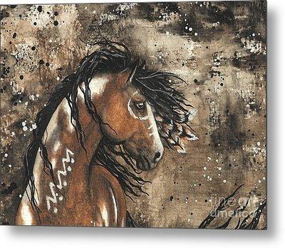 Majestic Mustang Series 61 Metal Print by AmyLyn Bihrle