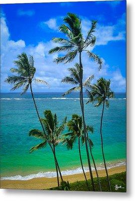 Majestic Palm Trees Metal Print
