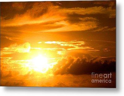 Majestic Sunset Metal Print by Kristine Merc