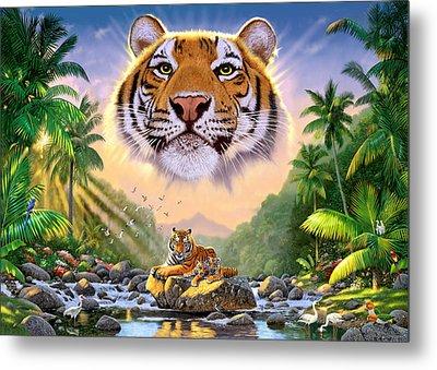 Majestic Tiger Metal Print by Chris Heitt