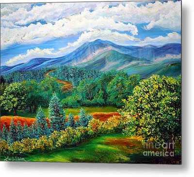 Metal Print featuring the painting Majestic View Of The Blue Ridge by Lee Nixon