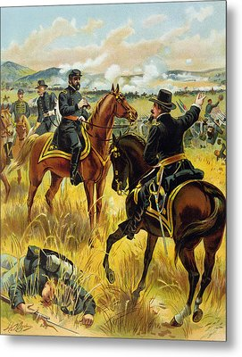 Major General George Meade At The Battle Of Gettysburg Metal Print by Henry Alexander Ogden