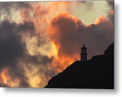 Makapuu Lighthouse Sunrise 1 Metal Print by Leigh Anne Meeks
