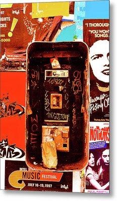 Make A Phone Call Metal Print by Elizabeth Hoskinson