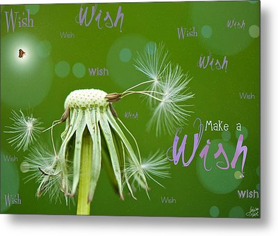 Make A Wish Card Metal Print by Lisa Knechtel