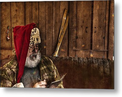 Making A List Metal Print by William Fields