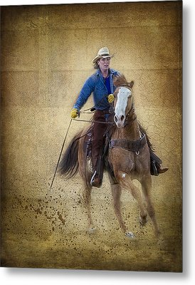 Making The Turn Metal Print by Susan Candelario