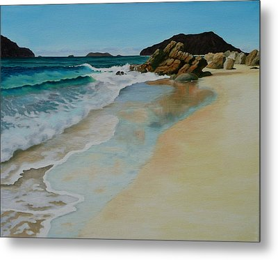 Metal Print featuring the painting Making Waves by Jo Appleby