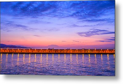 Metal Print featuring the photograph Malaga Pink And Blue Sunrise  by Debra Martz