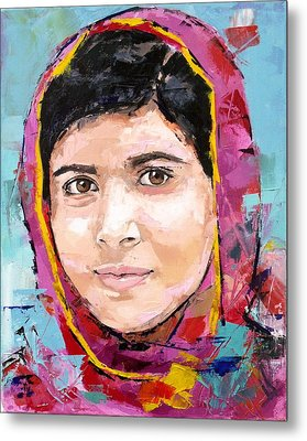 Malala Yousafzai Metal Print by Richard Day