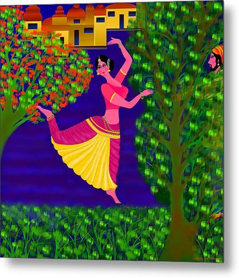 Malavika's Magical Touch Metal Print by Latha Gokuldas Panicker