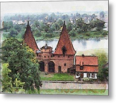 Malbork Castle Metal Print by Aleksander Rotner