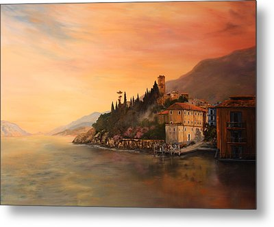 Malcesine Lake Garda Italy Metal Print by Jean Walker