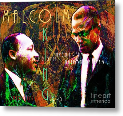 Malcolm And The King 20140205 With Text Metal Print by Wingsdomain Art and Photography