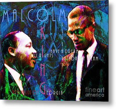 Malcolm And The King 20140205p180 With Text Metal Print by Wingsdomain Art and Photography