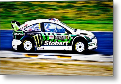 Malcolm Wilson Ford Focus Metal Print by motography aka Phil Clark