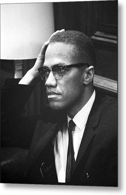 Malcolm X Metal Print by Underwood Archives Marion S Trikosko