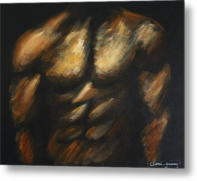 Male Bodybuilder Metal Print by Dani Abbott