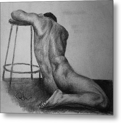 Male Nude 3 Metal Print