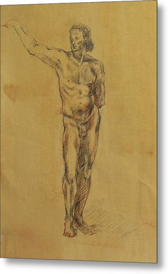 Male Nude 5 Metal Print by Becky Kim